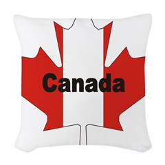 3-Canada-Leaf.jpg Woven Throw Pillow