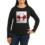 3-Canada-Leaf.jpg Women's Long Sleeve Dark T-Shirt
