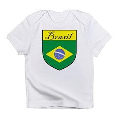 Brasil Flag Crest Shield Infant T-Shirt