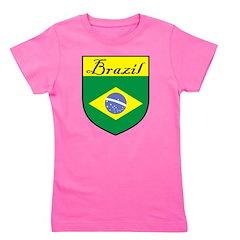 Brazil Flag Crest Shield Girl's Tee