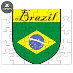 Brazil Flag Crest Shield Puzzle