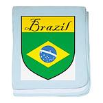 Brazil Flag Crest Shield baby blanket