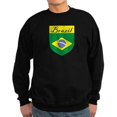 Brazil Flag Crest Shield Sweatshirt