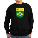 Brazil Flag Crest Shield Sweatshirt (dark)