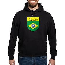 Brazil Flag Crest Shield Hoodie
