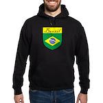 Brazil Flag Crest Shield Hoodie (dark)