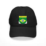 Brazil Flag Crest Shield Black Cap