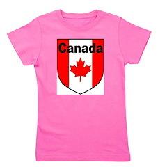 Canadian Flag Shield Girl's Tee