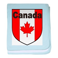 Canadian Flag Shield baby blanket