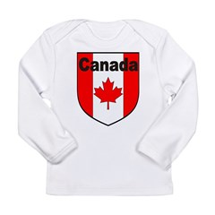 Canadian Flag Shield Long Sleeve Infant T-Shirt