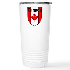 Canadian Flag Shield Travel Coffee Mug