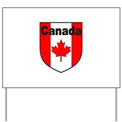 Canadian Flag Shield Yard Sign