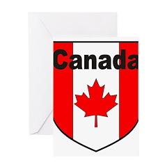Canadian Flag Shield Greeting Card