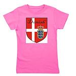 Danish Flag Crest Shield Girl's Tee