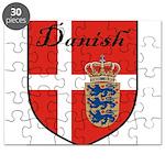Danish Flag Crest Shield Puzzle