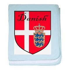 Danish Flag Crest Shield baby blanket