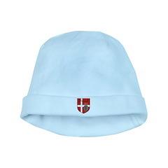 Danish Flag Crest Shield baby hat