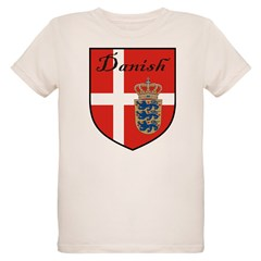Danish Flag Crest Shield T-Shirt