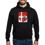 Danish Flag Crest Shield Hoodie (dark)