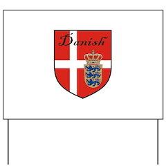 Danish Flag Crest Shield Yard Sign