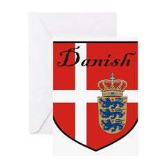 Danish Flag Crest Shield Greeting Card
