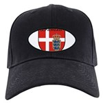 Danish Flag Crest Shield Black Cap