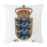 Denmark-COA.jpg Woven Throw Pillow