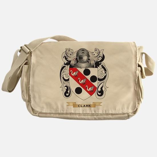 Clark Coat of Arms Messenger Bag