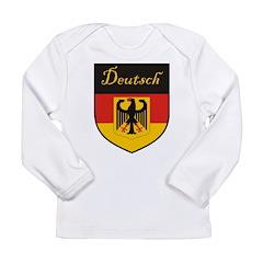 Deutsch Flag Crest Shield Long Sleeve Infant T-Shi