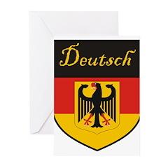 Deutsch Flag Crest Shield Greeting Cards (Pk of 20