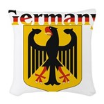 germany1.jpg Woven Throw Pillow