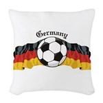 GermanySoccer.jpg Woven Throw Pillow