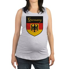 Germany Flag Crest Shield Maternity Tank Top