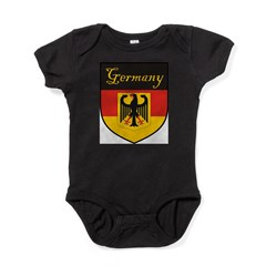 Germany Flag Crest Shield Baby Bodysuit