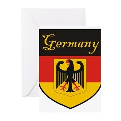 Germany Flag Crest Shield Greeting Cards (Pk of 20