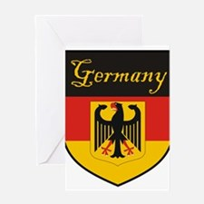 Germany Flag Crest Shield Greeting Card
