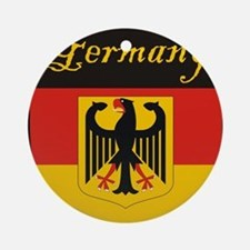 Germany Flag Crest Shield Ornament (Round)