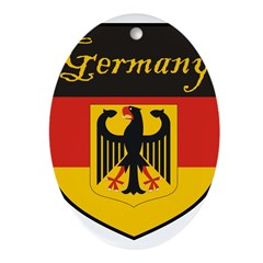 Germany Flag Crest Shield Ornament (Oval)