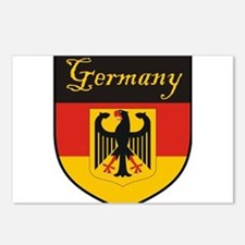 Germany Flag Crest Shield Postcards (Package of 8)