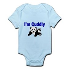 IM CUDDLY with panda bear Body Suit