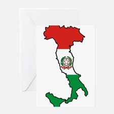 Italy-Map-Decal.jpg Greeting Card