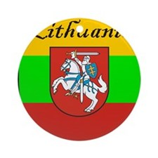 Lithuania-transp.png Ornament (Round)