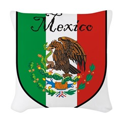 mexicoshield.png Woven Throw Pillow