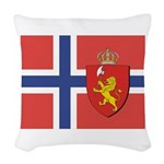 NORWAY-straight.jpg Woven Throw Pillow