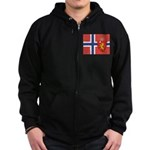 NORWAY-straight.jpg Zip Hoodie (dark)