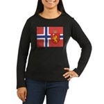 NORWAY-straight.jpg Women's Long Sleeve Dark T-Shi