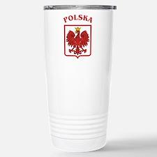 Polskaeagleshield.jpg Stainless Steel Travel Mug
