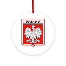 Poland-shield.jpg Ornament (Round)