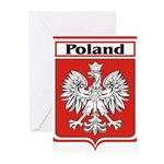 Poland-shield.jpg Greeting Cards (Pk of 10)
