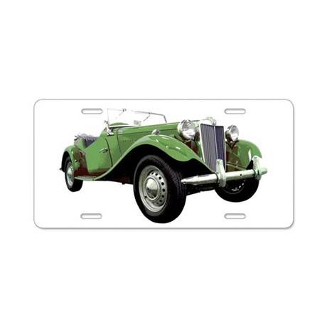 MG TD Aluminum License Plate